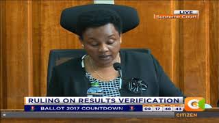 BREAKING: Supreme Court says IEBC chairman Chebukati cannot amend results.