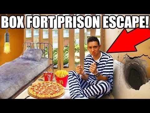 24 HOUR BOX FORT PRISON ESCAPE ESCAPE ROOM 📦🚔