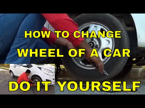HOW TO CHANGE THE WHEEL OF A CAR || DO IT YOURSELF || DESI DRIVING SCHOOL