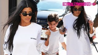 Kourtney Kardashian Looks Sexy In High Heels While Out With Mason Disick 7.25.17