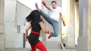 Ninja Girl vs Kickboxing | Martial Arts Action Scene