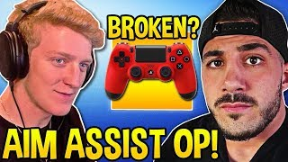 TFUE Shows PROOF Aim Assist is BROKEN! NICKMERCS CHALLENGE TO ALL PC PROS! (Fortnite Moments)