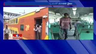 Double Decker Train Trial Run Between Vizag to Vijayawada | Live Updates | HMTV