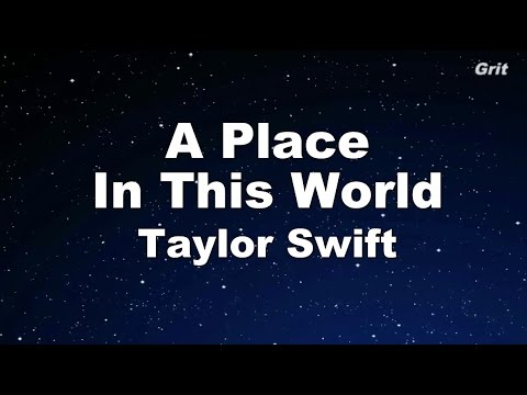 A Place In This World - Taylor Swift Karaoke【No Guide Melody】