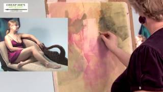Kate Worm - Figure Painting from a Live Model - Pt4 - Light and Sketching