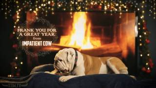 Holiday Yule Log Bulldog Full HD Fireplace With Crackling Sounds