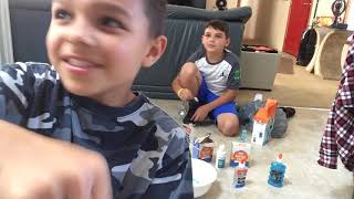 Watch this making slime contest