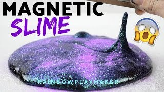 SLIME DIY! HOW TO MAKE MAGNETIC GLITTER SLIME! SCIENCE EXPERIMENT SLIME!