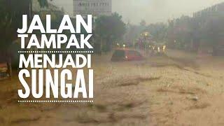 Banjir Di Jalan Cicaheum Bandung