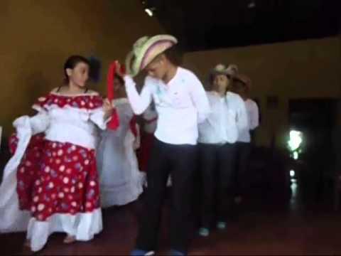 pasos y video de la danza de pollera colorada