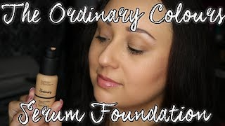 The Ordinary Colours Serum Foundation Review & Application  | MsNikkiGBeauty