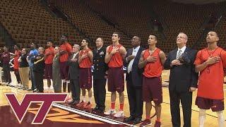 Buzz Williams, Virginia Tech Basketball Team Honor Military Veterans