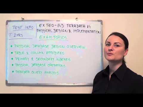 TE0-143 – Teradata Exam 14 Physical Test Design Questions