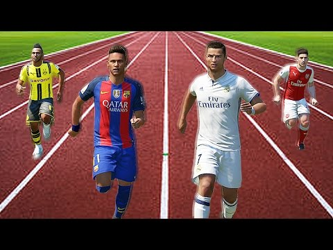 FIFA 17 Speed Test   Fastest Players In FIFA Without The Ball