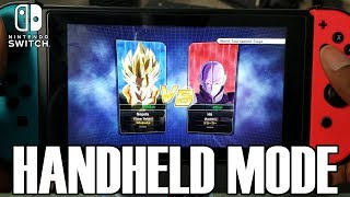 SHOWING OFF HANDHELD MODE!!! Dragon Ball Xenoverse 2 for Nintendo Switch Handheld Mode Gameplay!