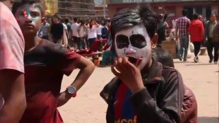 Holi |  2072 Special |  Basantapur, Kathmandu| Daily Exclusive News ( Media Np TV)