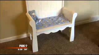 Man turns stillborn's crib into a memorial bench