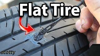 How to Fix a Flat Tire (Tire Plug Kit)