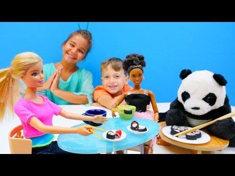 Yemek yapma oyunu ve #hamuroyunları. Japon mutfağı 🇯🇵. #Barbie için suşi tarifi 🍣. #Kızoyunları
