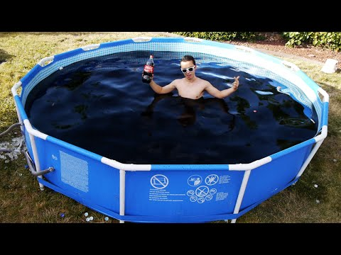 Taking a Bath in a Giant 1 500 Gallon Coca Cola Swimming Pool