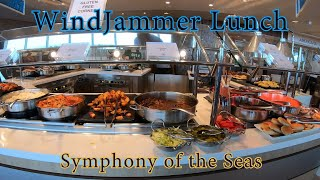 [4K] Lunch at the Windjammer Restaurant Symphony of the Seas Royal Caribbean 2018