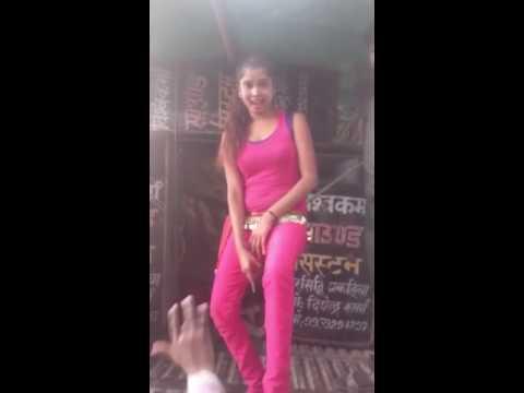 Vulgar dance by a cute girl