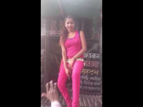 Vulgar dance by a cute girl
