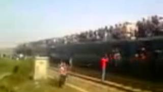 Train Accident in Moghbazar Rail crossing, Bangladesh