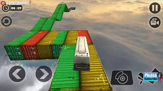 Impossible Sky Bus Driving / Bus Drive Simulation Games /  Android Gameplay Video #3