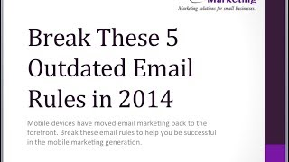 5 Email Rules to Break