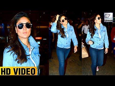 Kareena Kapoor Looks Like A Rockstar At Airport | Lehren TV