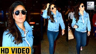 Kareena Kapoor Looks Like A Rockstar At Airport | Lehren TV
