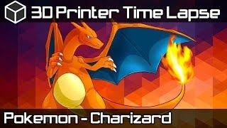 3D Printer Time Lapse - Pokemon Go Charizard - 3D Printing Pokemon Live Stream