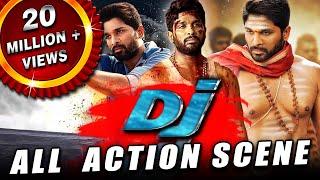 DJ All Back To Back Action Scenes Hindi Dubbed | Allu Arjun, Pooja Hegde, Rao Ramesh