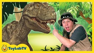 Real Life T-REX Chase at GIANT LIFE SIZE DINOSAURS Park & Playground Animal Planet Dino Surprise Toy
