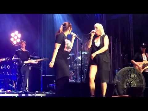 Svenia singt mit Sarah Connor am Liestal air
