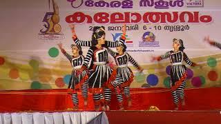58th kerala school kalolsavam 2018 (hs girls) GROUP DANCE amritha and team