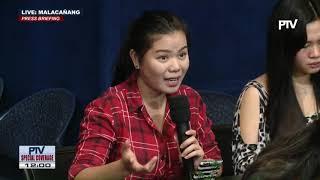 Press briefing sa Malacañang