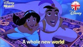 DISNEY SING-ALONGS   A Whole New World - Aladdin Lyric Video   Official Disney UK