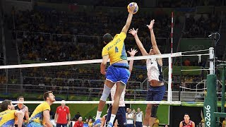 TOP 20 Powerful Volleyball Spikes Over The Block | Monsters of the Vertical Jump