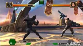 Contest of Champions 4* BLACK PANTHER CIVIL WAR HIS VIBRANIUM SUIT VS WINTER SOILDER IRON ARM REVIEW