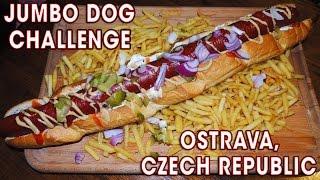 JUMBO HOT DOG CHALLENGE IN CZECH REPUBLIC!!