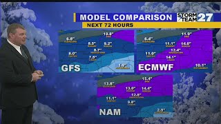 Snow threat continues into the weekend