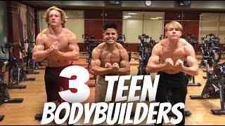 Teen Bodybuilders Flex Off!!!