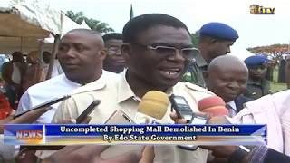 EDSG demolishes an uncompleted shopping mall in Benin