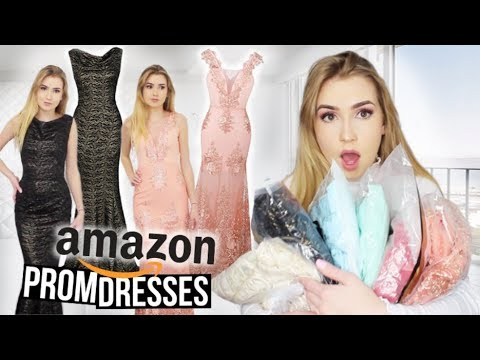 Xxx Mp4 TRYING ON AMAZON PROM DRESSES Huge Success 3gp Sex