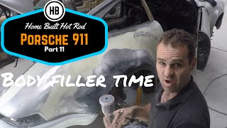 Applying Body Filler - Porsche 911 Classic Car Build Part 11