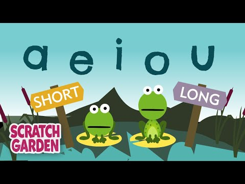 The Vowel Song: Long and Short Vowel Sounds | Learning English for Kids