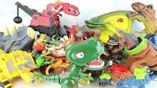 My 2017 Dinosaur Toys Collection - Big Heads, Walking, Transforming Dino eggs Fun Toyset~