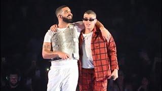 """Bad Bunny canta """"Mia"""" en concierto de Drake"""